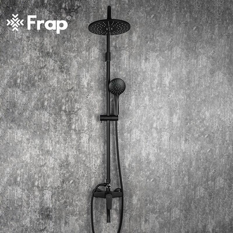 Frap Bathroom Faucet Shower Type Head Black Faucet Wall Mounted Bathtub Shower Mixer Tap Shower Faucet Shower Set Mixer